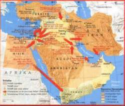 Middle East Conflict--Map